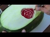 Цветок из арбуза ^.^